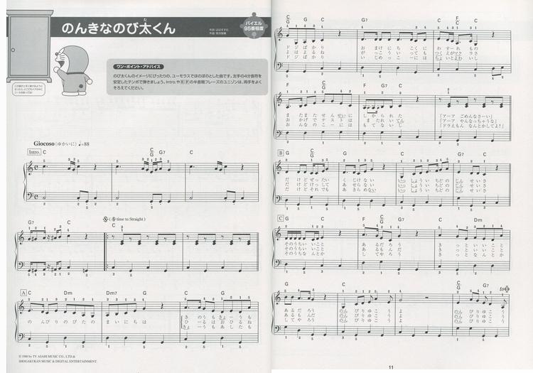 内容介绍 日本进口doremi 多啦a梦钢琴演奏乐谱